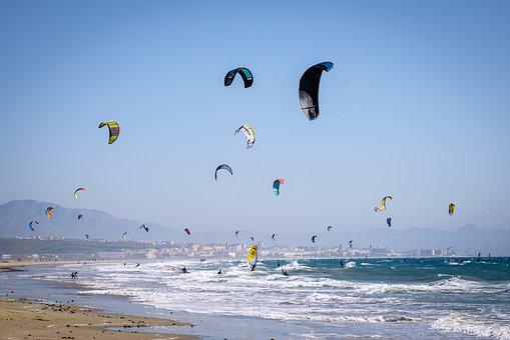 Kiters, Kite, Sport, Sea, Water, Kitesurfer, Jump
