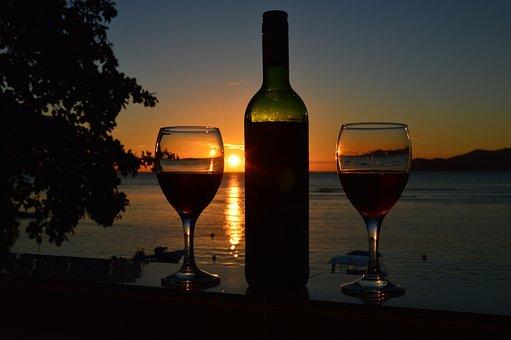 Afterglow, Sunset, Abendstimmung, Evening Sky, Mood