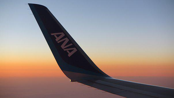 Sunset, All Nippon Airways, Ana, Winglet, Airplane