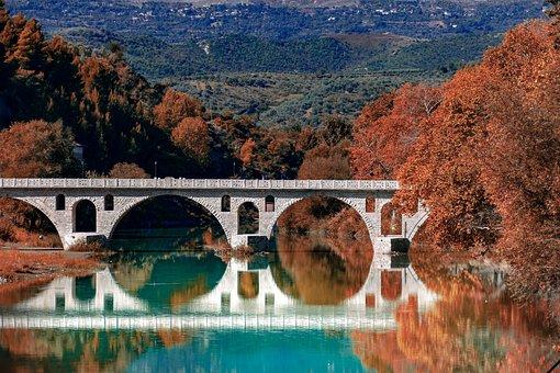 Roman, Bridge, Berat, Albania, Tourism, Historic, Stone