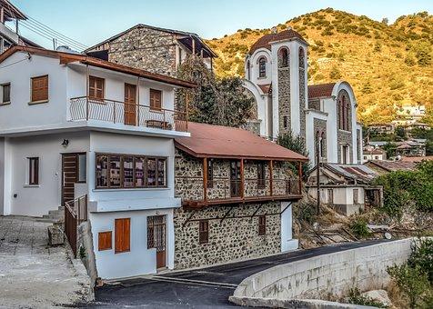 Cyprus, Moutoullas, Architecture, Old, Village