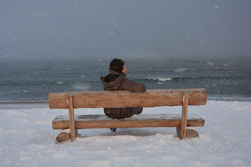 Teriberka, Winter, Ocean, Nature, Travel, Girl, Cold