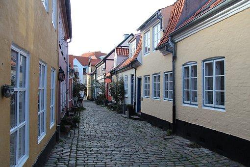Aalborg, Denmark, Alley, Historic Center, Idyll