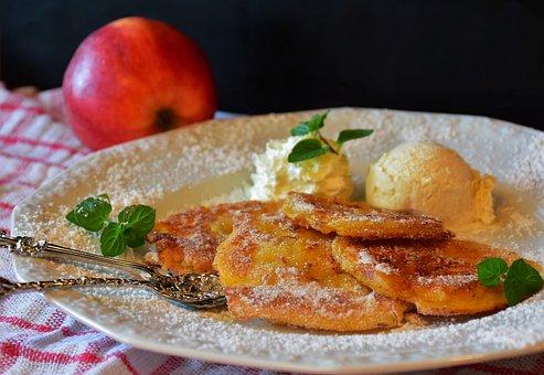 Apfelkuechle, Apple Fritters, Apple, Dessert