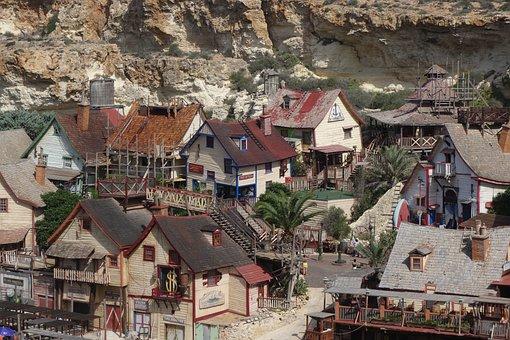 Malta, Village, Mediterranean, Architecture