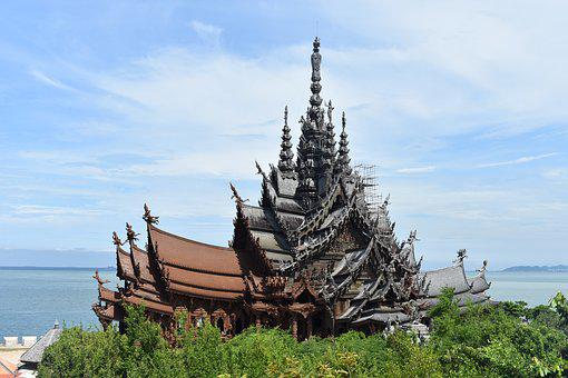 Sanctuary Of Truth, Pattaya, Thailand, Asia, Travel