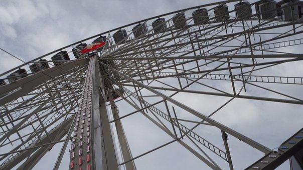 Ferris Wheel, Gondola, Carousel, Sky, Attraction, Ride