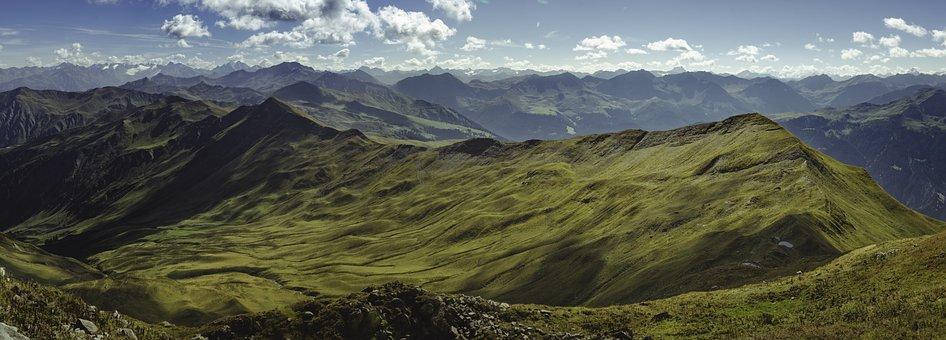 Landscape, Panorama, Mountains, Autumn, Rock, Alpine