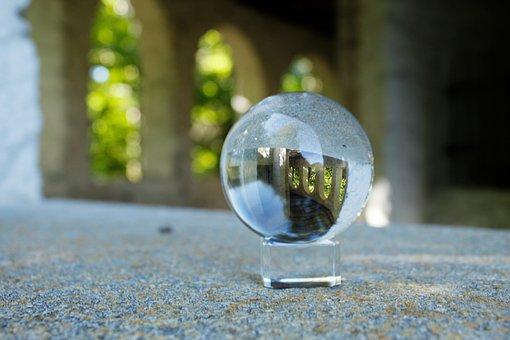 Glass Ball, Close Up, Wrong, Rear, Autumn Time, Sharp