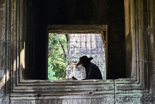 Cambodia, Asian, Human, Light, Shadow, In The Middle
