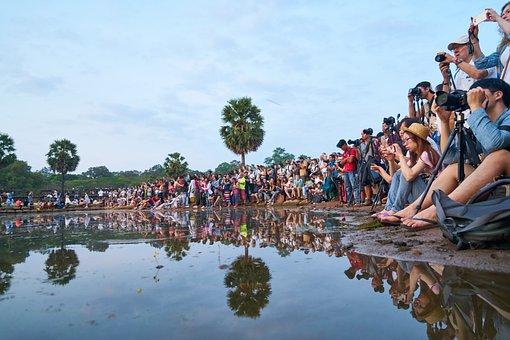 Cambodia, Photographers, The Crowd, Camera, B Add