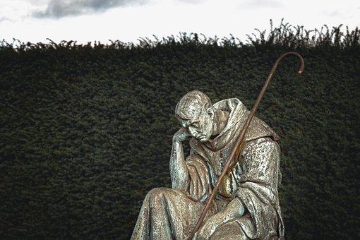Man, Sad, Cemetery, Unhappy, Loneliness, Despair
