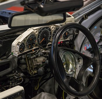 Cockpit, Automotive, Steering Wheel, Dashboard