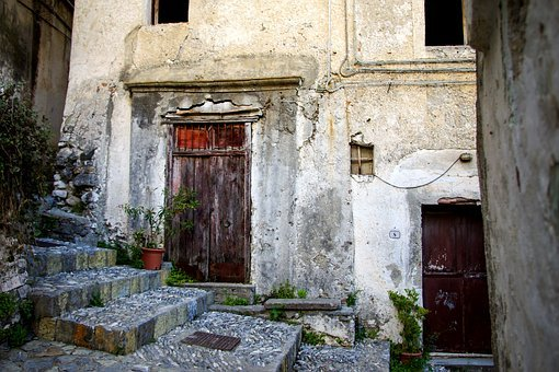 Door, Closure, Lack Of Communication, Ruin, Decay, Time