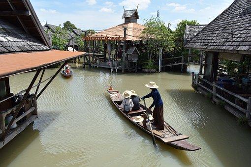 Floating Market, Pattaya, Thailand, Asia, Travel