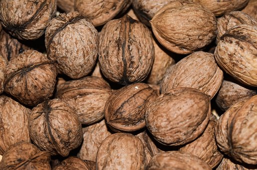 Walnut, Walnuts, Food, Brown, Shell, Texture, Fruit