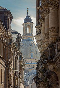 Frauenkirche, Dresden, Architecture, Old, Lighting