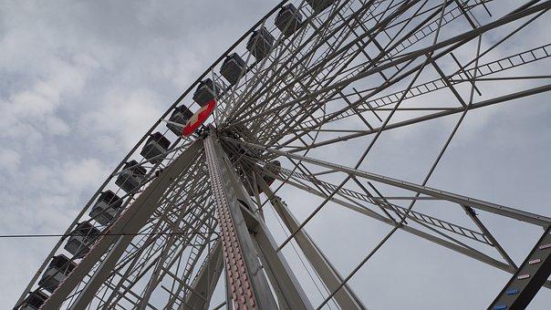 Ferris Wheel, Gondola, Sky, Carousel, Ride, View