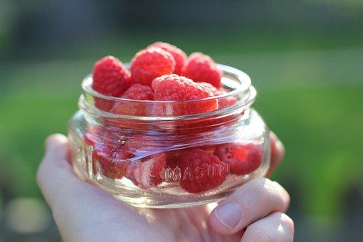 Raspberries, Fresh, Fruit, Food, Red, Healthy, Sweet