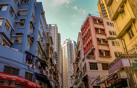 Hong Kong, City, Building, Architecture, Sky