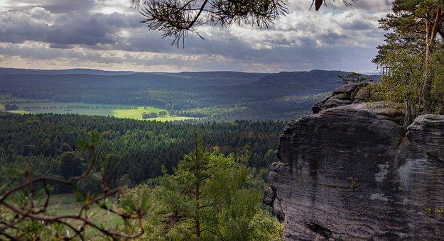 Bastei, Saxony, Germany, Landscape, Nature, Rock