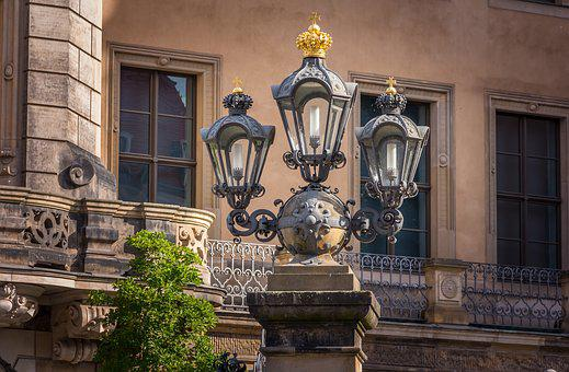Dresden, Lanterns, Lantern, Architecture, Old, Lighting