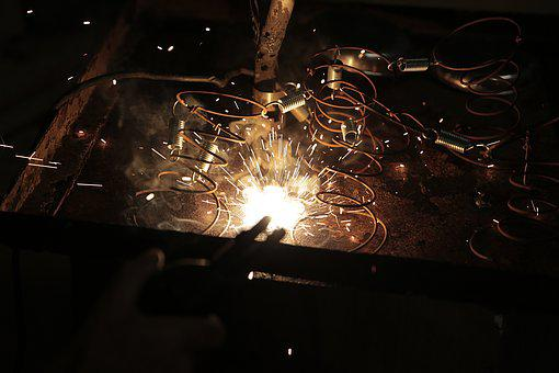 Industrial, Welding, Fire, Ferralla, Iron, Metal
