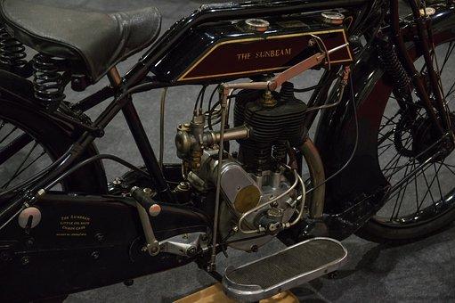 Sunbeam, Motorcycle, Single Cylinder, Oldtimer, Manual