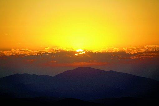 Day Nativity, Nature, Morning, Mountains, High, Sunrise