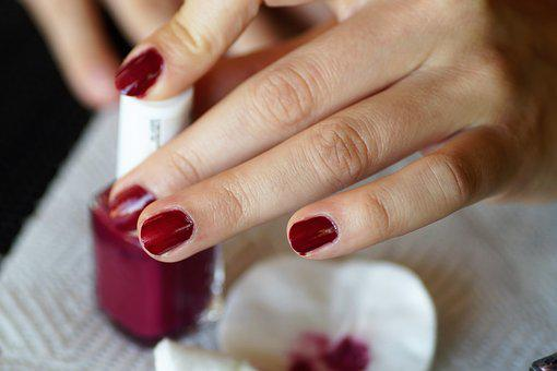 Nails, Painting, Manicure, Home, Varnish, Colored