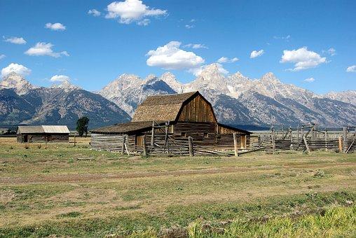 Mormon Row Structures, Grand, Teton, National, Park