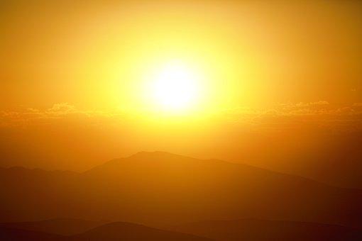 Day Nativity, Nature, Sunrise, Mountains, Sky, Solar
