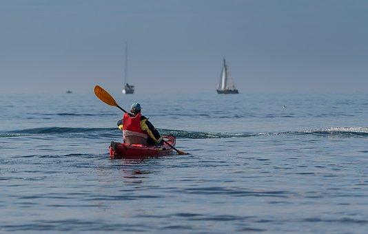 Paddle, Kayak, Canoeing, Explore, Lake Constance, Sky