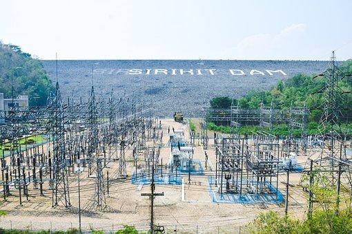 Water Dam, Power Plant, Powerhouse, Dam, Power Station