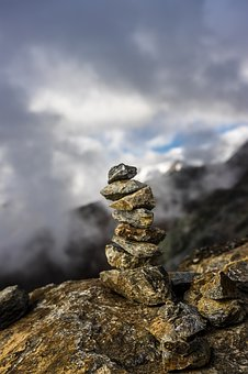 Stone Tower, Mountains, Rock, Stones, Landscape, Nature