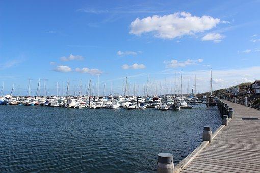 Marina, Kühlungsborn, Baltic Sea, Promenade, Sea