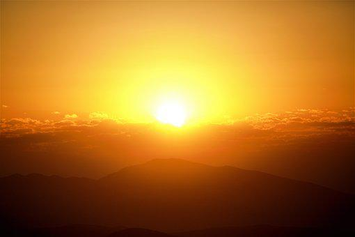 Day Nativity, Morning, Nature, Light, Sky, Mountains