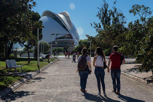 Tourists, Valencia, Spain, Park
