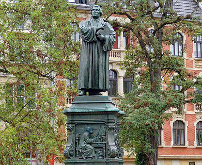 Martin Luther, Monument, Reformation, Statue, Church
