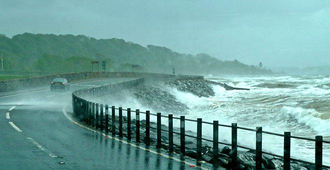 Storm, Sea, Dramatic, Waves, Wind, Seascape, Rain