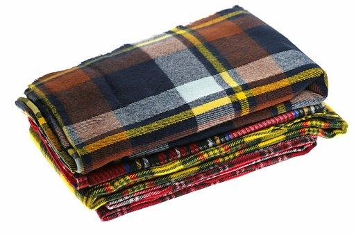 Scarf, Cellular, Pile, Autumn, Fabric, Textile