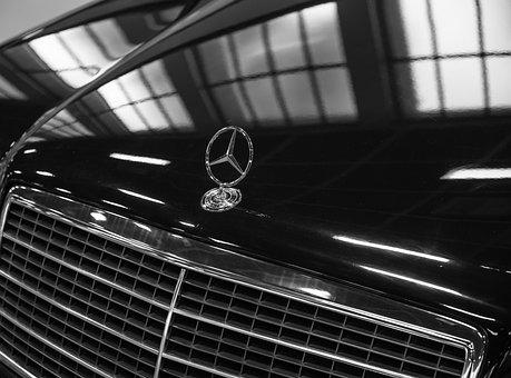 Mercedes, Star, Chrome, Auto, Vehicle, Automotive, Benz