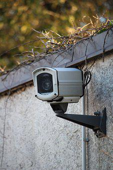 Video Camera, Wall, Observation, Security, Recording