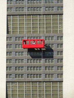 Window Cleaner, Skyscraper, Window, Facade
