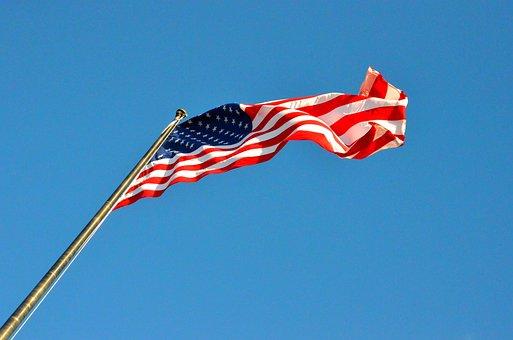 Flag, America, Usa, Star, Red, Flutter, Wind, Stripes