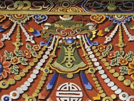 Dragon, Art, Bhutan, Decoration, Asia