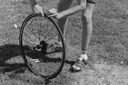 Bicycle Wheel, Repair, Band, Flat Tire, Wheel