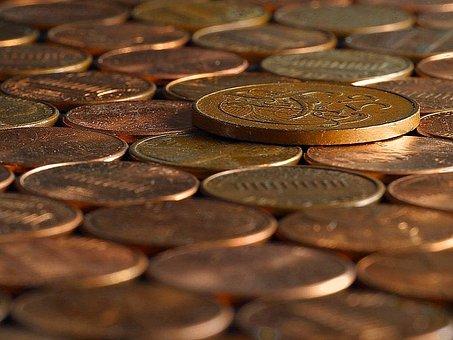 Copper, Pennies, Penny, Coins, Bills, Money
