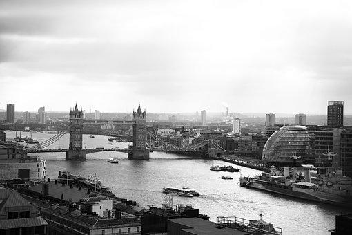 London, Bridge, River, Urban, Great Britain, Cities