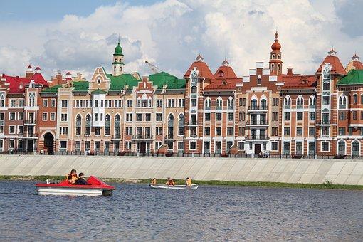 City, Yoshkar-ola, Sights, Russia, Red Brick, River